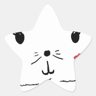 Gato bonito do gatinho adesito estrela