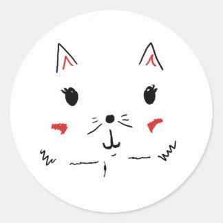 Gato bonito do gatinho adesivo