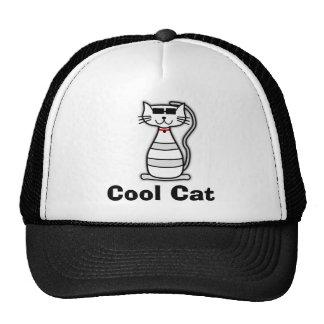 Gato bonito dos desenhos animados do gato legal boné