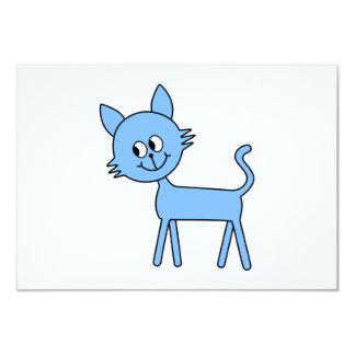 Gato bonito. Gato azul pálido de passeio Convite 8.89 X 12.7cm