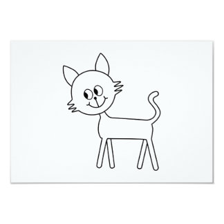 Gato bonito. Gato branco de passeio Convite 8.89 X 12.7cm