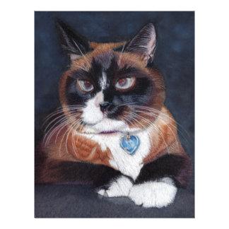 Gato bonito papel timbrado
