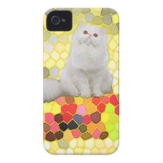 Gato branco capinha iPhone 4