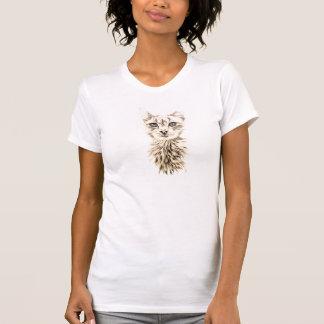 Gato branco na camisa t-shirt