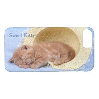 Gato calmo perfeito Napping doce do gatinho Capa iPhone 8/ 7