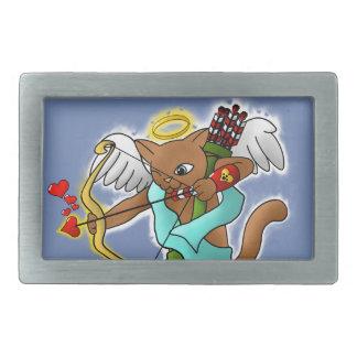 Gato castanho chocolate do Cupido do dia dos