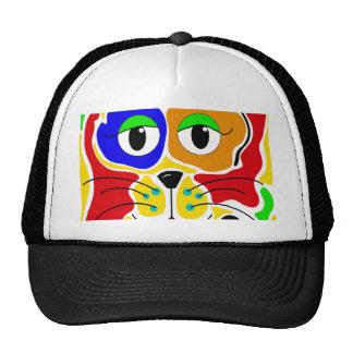 Gato colorido boné