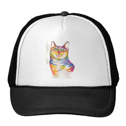 Gato colorido legal bonés
