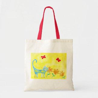 gato com flores2 bolsas de lona