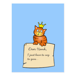 Gato com letra - cartão