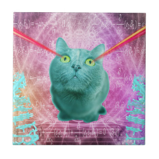 Gato com olhos do laser