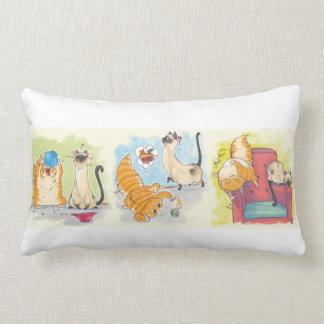 Gato cómico travesseiros