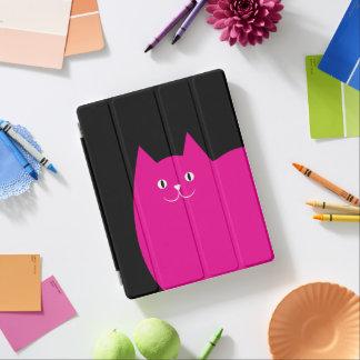 Gato cor-de-rosa bonito capa smart para iPad
