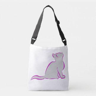 Gato cor-de-rosa, suficiência cinzenta bolsa ajustável