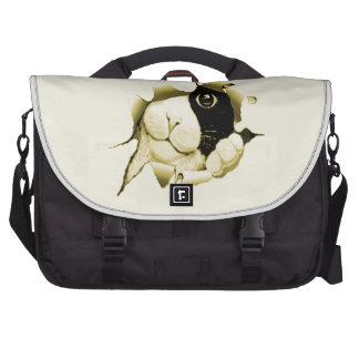 Gato curioso que espreita para fora bolsas para notebook
