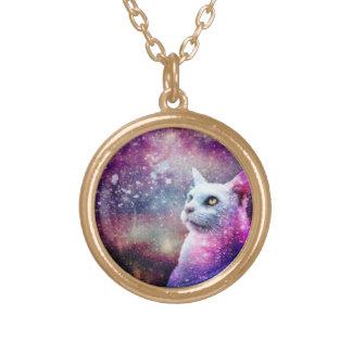 Gato da galáxia bijuterias personalizadas