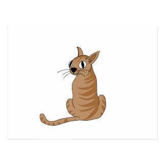 Gato de Brown Cartão Postal