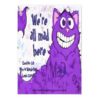 """Gato de Cheshire, 5"""""""" cartão x7 magnético"""