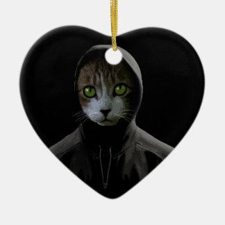 Gato de Gangsta Ornamento De Cerâmica