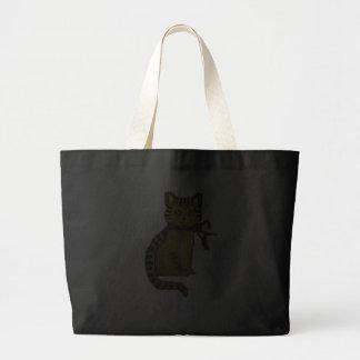 Gato de gato malhado sacola tote jumbo