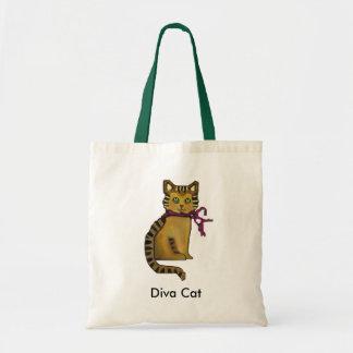 Gato de gato malhado sacola tote budget