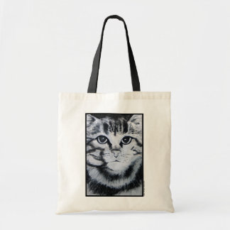 Gato de gato malhado bolsa para compra