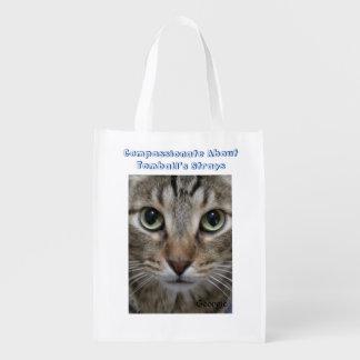 Gato de gato malhado de Brown Sacolas Ecológicas