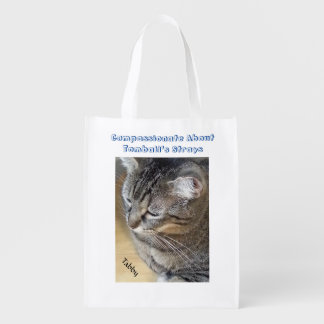 Gato de gato malhado de Brown Sacolas Ecológicas Para Supermercado