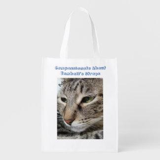 Gato de gato malhado de Brown Sacolas Reusáveis