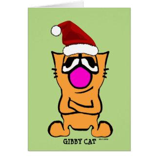 Gato de Gibby, cartões engraçados do NATAL de