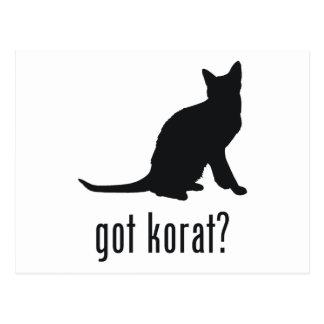 Gato de Korat Cartão Postal