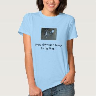 Gato de Kung Fu T-shirts