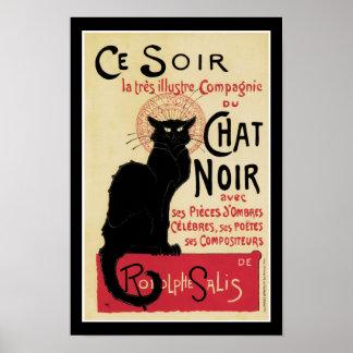 Gato de Noir Black do bate-papo Pôsteres