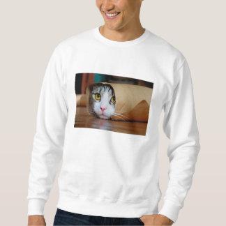 Gato de papel - gatos engraçados - meme do gato - moletom