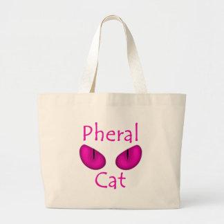 Gato de Pheral (olhos cor-de-rosa) Bolsas De Lona