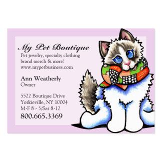 Gato de Ragdoll do rico do boutique do animal de e Cartão De Visita Grande