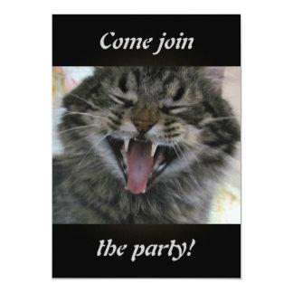 Gato de riso convite 12.7 x 17.78cm