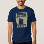 Gato de Schrodinger Procurado Vivo e Morto T-shirts
