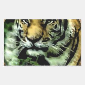 Gato de selva adesivo retangular