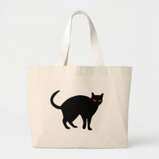 Gato demoníaco bolsas para compras