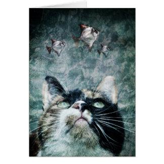 Gato do abismo - cartão