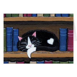 Gato do amor | do livro que dorme no cartão de