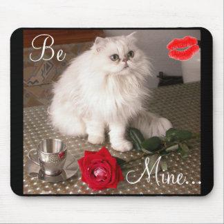 Gato do amor II Mousepad - customizável