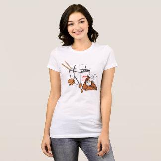 Gato do biscoito de fortuna camiseta