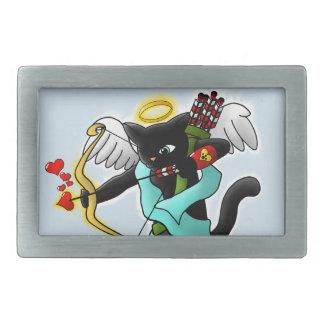 Gato do Cupido do preto de carvão do dia dos