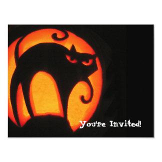 Gato do Dia das Bruxas Convite Personalizados