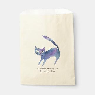Gato do Dia das Bruxas da aguarela Sacolinha