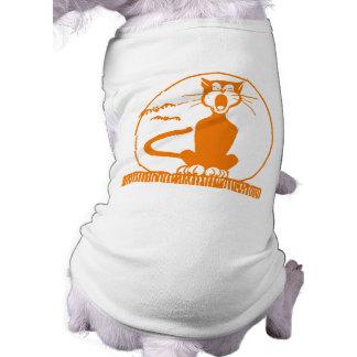 Gato do Dia das Bruxas do vintage Camiseta Para Caes