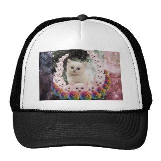 gato do espaço nas flores boné