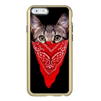 gato do gângster - gato do bandana - grupo do gato capa incipio feather® shine para iPhone 6